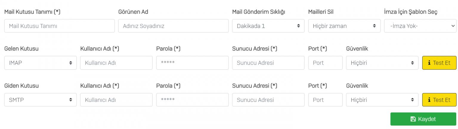 Mobikob E-posta Ayarları